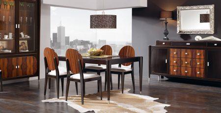 Salón compuesto por muebles Art Deco