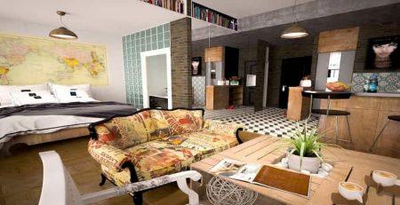 Muebles y decoración estilo vanguardista
