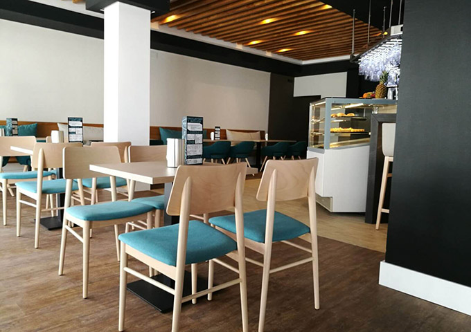 mesas para interior hosteleria