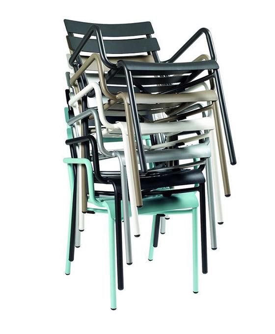 sillas exterior apilables